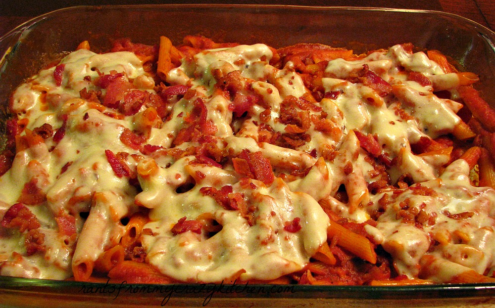 Bacon Provolone Penne Pasta Bake