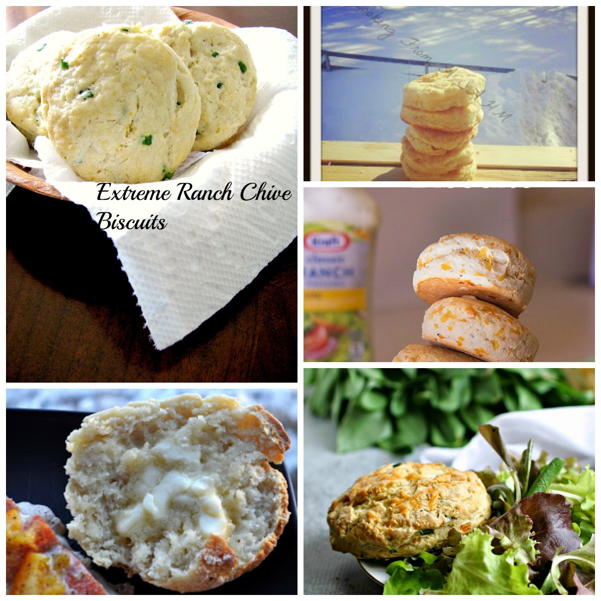 Extreme Ranch Chive Biscuits and More- A great collection of my favorite quick and easy biscuit recipes!
