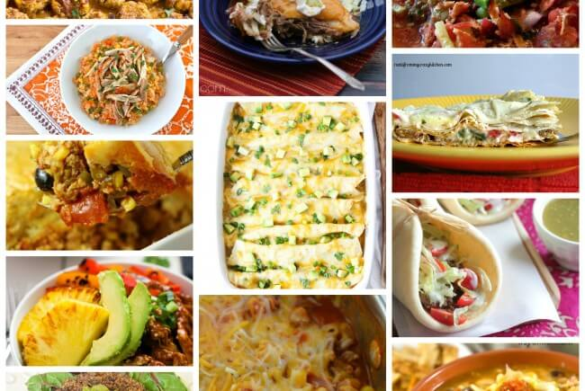 12 Mexican Main Dishes- A great collection of recipes for Cinco de Mayo or any day of the year! From authentic Mexican to Mexican American recipes, you will find a favorite here!
